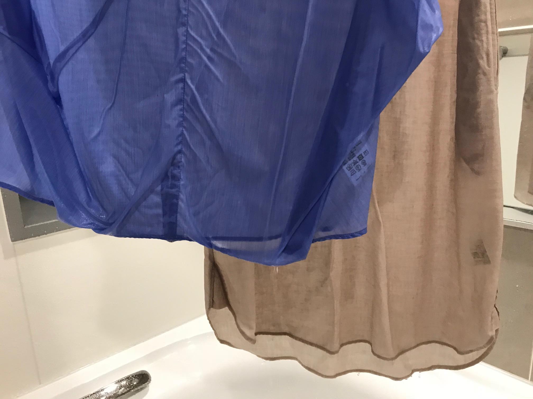 汗まみれのオシャレ着にはとりあえず水シャワー